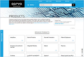 Qorvo Products Landing Page