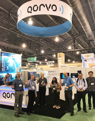 At the Qorvo booth at IMS 2018