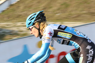 Alicia Franck, a professional cyclist in Europe