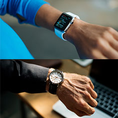 smart watch vs. a traditional jewelry watch