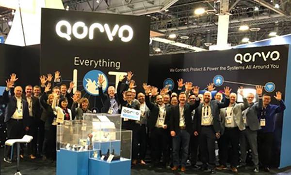 Qorvo booth at CES 2020