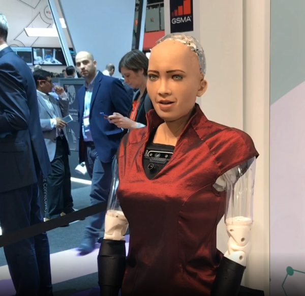 Sophia the Robot, at MWC Barcelona 2019