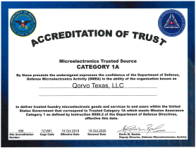 DMEA Accreditation of Trust Certificate