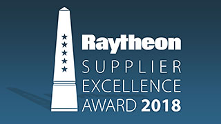 For The Third Consecutive Year Custom MMIC Secures Raytheon's Top Supplier Honors