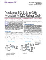 "Microwaves & RF contributed article from Qorvo: ""Realizing 5G Sub-6 GHz Massive MIMO Using GaN"""