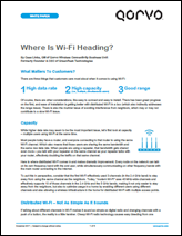 Qorvo White Paper: Where Is Wi-Fi Heading?