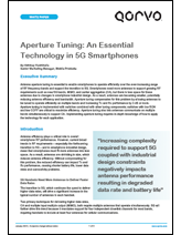 "Qorvo White Paper: ""Aperture Tuning: An Essential Technology in 5G Smartphones"""