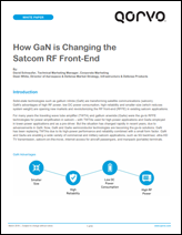 Qorvo White Paper: How GaN Is Changing the Satcom RF Front-End