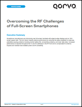 Overcoming the RF Challenges of Full-Screen Smartphones
