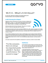 Qorvo White Paper: Wi-Fi 802.11ax - What's It All About?
