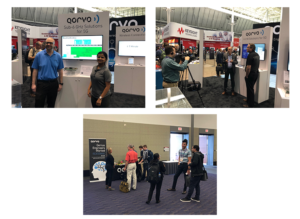 Qorvo teams explain small cell front end solutions, a 5G antenna, and help students entering the workforce
