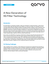 A New Generation of 5G BAW Filtering Technology