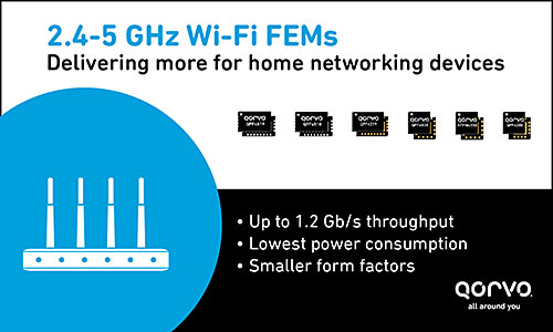 2.4 - 5 GHz Wi-Fi FEMs - Delivering more for home networking devices