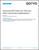 Qorvo Automotive & V2V White Paper