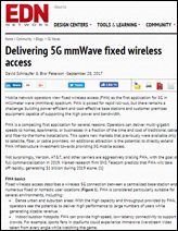 Delivering 5G mmWave fixed wireless access