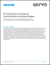 RF Architecture Choices for Next-Generation Handset Designs